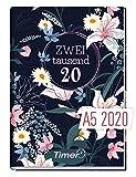 Chäff-Timer Classic A5 Kalender 2020 [Dark Flower] Terminplaner 12 Monate: Jan bis Dez | Wochenkalender, Organizer, Terminkalender mit Wochenplaner - Top organisiert durchs Jahr!