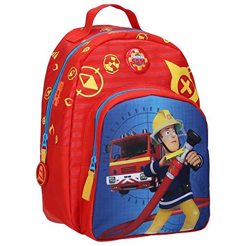 Brandweerman Sam kinderrugzak - brandweerauto - rood