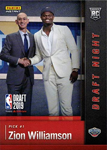 2019-20 Panini Instant Basketball #DN-ZW Zion Williamson Rookie Card - 1st Official Rookie Card