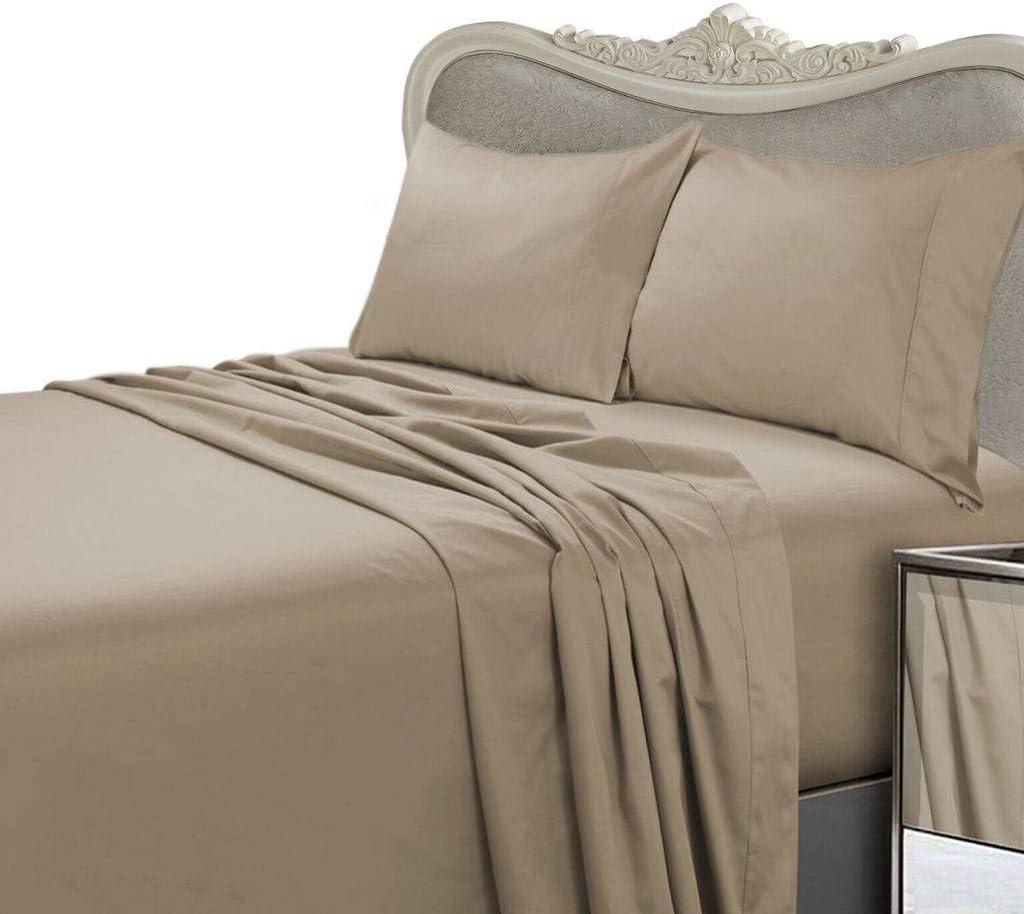 Luxurious Dark Brown Solid Ranking TOP12 Plain 1500 Size Philadelphia Mall Thread Queen