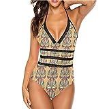 Conjunto de bikini de talle medio para mujer, piezas moteadas, muy lindas y con tiras Multi 27 M