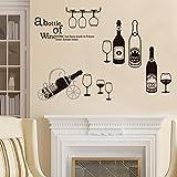 Botella de vino etiqueta de la pared de vidrio cocina decoración de la...
