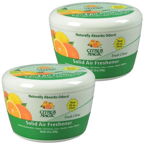 Citrus Magic Solid Air Freshener Fresh Citrus, Pack of 2, 20-Ounces Each