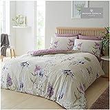 Gaveno Cavailia - Lussuoso set da letto da giardino con copripiumino e federe, in poliestere-cotone, per letto king size, in policotone, colore: naturale botanico