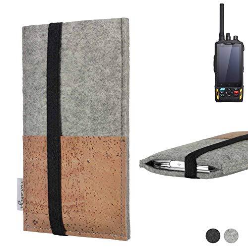 flat.design Handy Hülle Sintra für Ruggear RG760 Handytasche Filz Tasche Schutz Kartenfach Case Kork