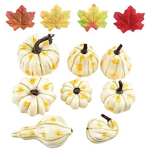 Calabazas artificiales, calabazas artificiales, decoración otoñal, calabazas falsas para Halloween, otoño y fiestas de Acción de Gracias
