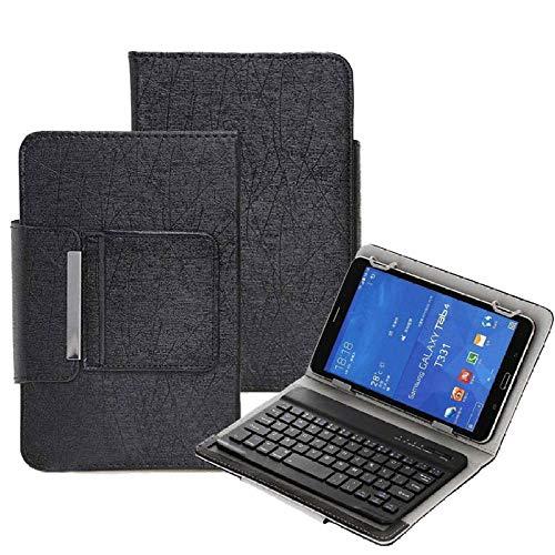 Teclado Bluetooth para Tableta 10 Funda de Teclado inalámbrico Universal para 9.7 10 10.1 Pulgadas Tablet PC para LN Tab M10 FHD Plus TBX606F TBX606X 10.3 Cubierta Tablet con Funda (Color : Black)