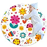 Alfombra de área para niñas, habitación de niños, alfombra resistente, lavable, alfombra para dormitorio adolescente, diseño de setas de dibujos animados, flores, corazones y pájaros