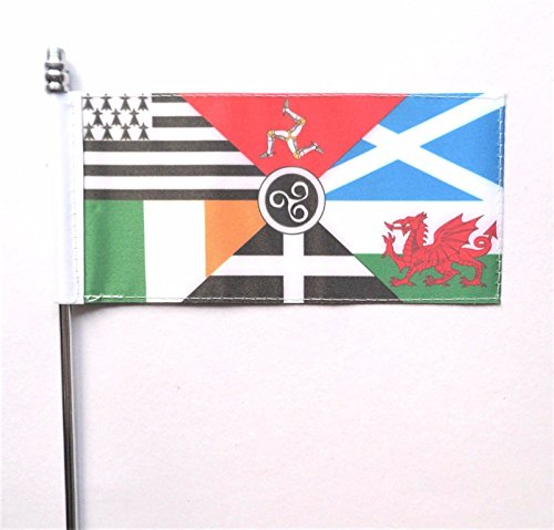 Pan Celtic Nations Ultimate Table Desk Flag