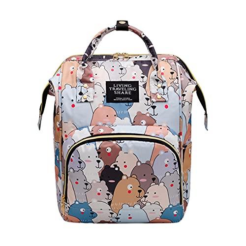 Mochilas Para PañAles Mamá Travel Cuna Packs con estilo Cuna plegable Napfaps Bags Baby Pañal Mochila Grande Capacidad Maternidad Matchels Bags Bolsa De PañAles (Color : A)