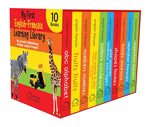 My First English-Français Learning Library (Ma première bibliothèque bilingue anglais-français) : Boxset of 10 English - French Board Books (French Edition)