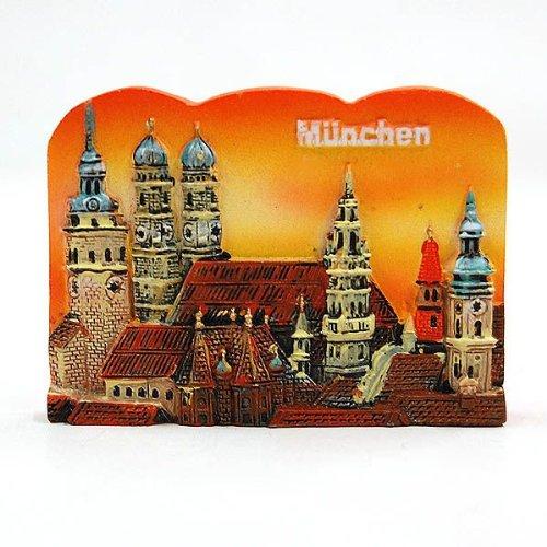 City Souvenir Shop Relief-Magnet München Altstadt, orange