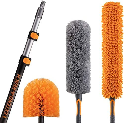 20 Foot High Reach Duster Kit with 5 12 ft Extension Pole High Ceiling Duster Cleaning Kit with product image