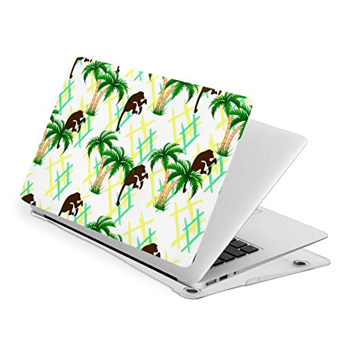 Laptop Hard Shell Case MacBook Air 13 Inch,Summer Monkey Animal Laptop Sleeve Computer Hard Shell Case Cover Pro 13 New Air 13