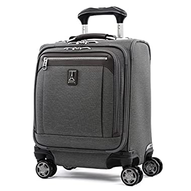 Travelpro Luggage Platinum Elite 16  Carry-on Spinner Tote with USB Port, Vintage Grey