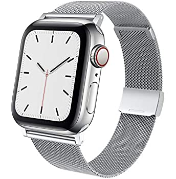 TACA-H Compatible with Apple Watch Bands 44mm 42mm 40mm 38mm,Stainless Steel Replacement iWatch Bands for Series 6/SE/5/4/3/2/1