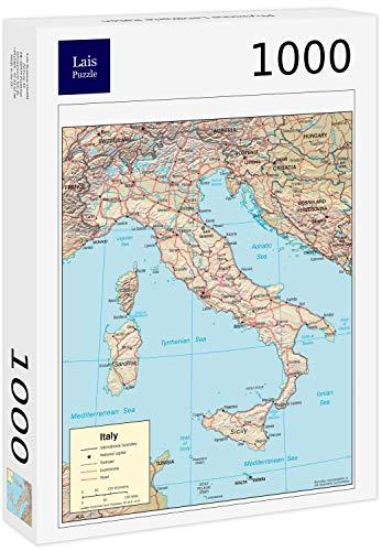 Lais Puzzle Mappa Fisica Italia 1000 Pezzi