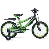 Kawasaki Bicicletta Krunch 16' Bambino, Verde, 16''