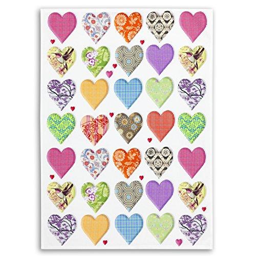 Paño de cocina Trapo de algodón digiprint Serie, diseño suerte & seeligkeit, Edition ziczac de affaires, aprox. 50x 70cm