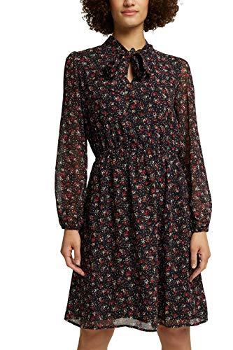 ESPRIT Print-Kleid mit Schluppe