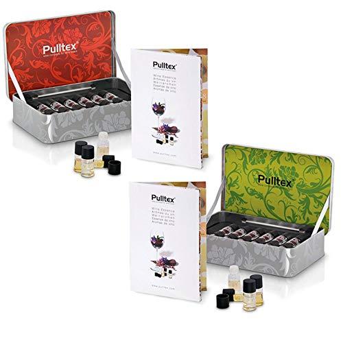 Pulltex - Set 24 Aromi del Vino - n° 12 Aromi del Vino Rosso e n° 12 Aromi dei Vini Bianchi Champagne - in Confezioni Originali Metal Box