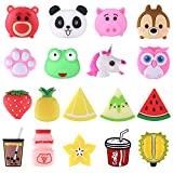 TUPARKA 18 Pcs Cable Protector for iPhone Charging Cable, Plastic Cute Fruit Drink Bottle Animal Unicorn Charging Cable Saver, USB Cable Saver Phone Accessory Protect Charger Cable