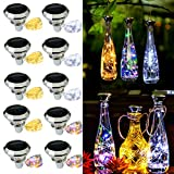 Starry Love Solar Diamond Wine Bottle Lights 10 Pack 20LED Outdoor Waterproof Multicolor Fairy Light String (3 Colors), Suitable for Most Wine Bottle Mouths, for Garden, Terrace, Party Decoration