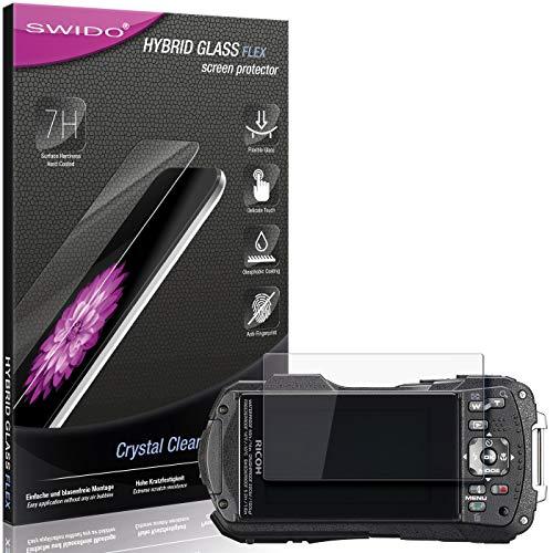 SWIDO Panzerglas Schutzfolie kompatibel mit Ricoh WG-60 Bildschirmschutz-Folie & Glas = biegsames HYBRIDGLAS, splitterfrei, Anti-Fingerprint KLAR - HD-Clear