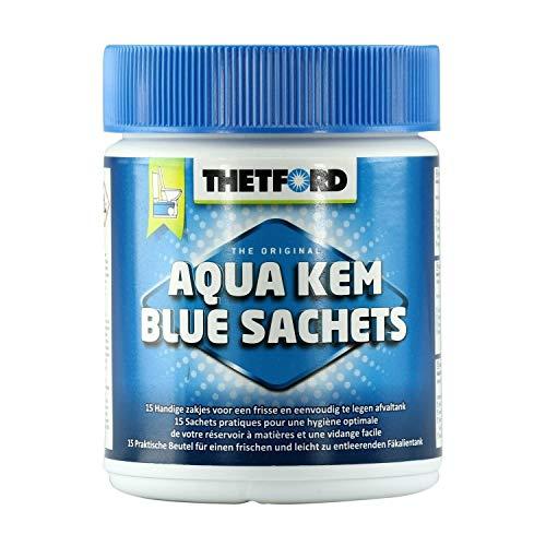Thetford 301/203 Aqua Kem Blue Sachets, 1er pack (15 x 25 g)