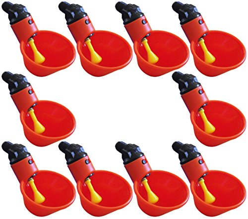 Rite Farm Products (10) AUTOMATIC WATERER DRINKER CUPS CHICKEN POULTRY TURKEY DRINK
