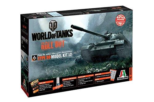 Italeri 36508 World of Tanks WoT Chinese Type 59 Tank Plastic Model Kit with WoT Bonus Code, 1:35 Scale