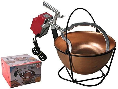 Polentina Ovbc - Grote koperen ketel voor Polenta - met elektromotor - inhoud 12 l