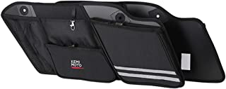 Saddle Bags Organizers, 2 Pack for 1993-2013 Road Glide Electra Glide Street Glide Road King Saddlebag Organizers