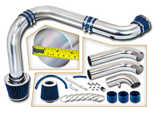 Rtunes Racing Cold Air Intake Kit + Filter Combo BLUE Compatible For 03-08 Dodge Ram 1500 2500 3500...