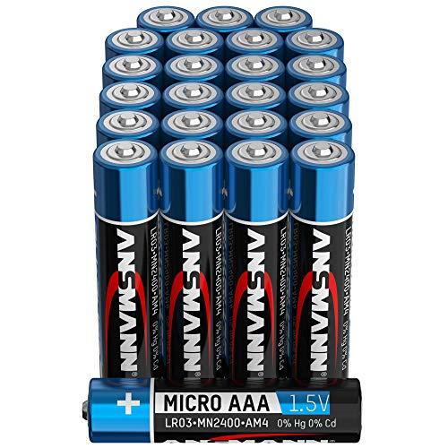 ANSMANN Batterien AAA Alkaline Größe LR03 - AAA Batterie für Fernbedienung (24 Stück Vorratspack)
