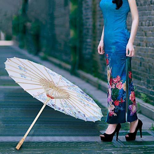 01 Regenschirm Requisiten, Foto Requisiten Regenschirm Liebevoll gestaltete Details fühlt Sich glatt und bequem für Hochzeitsfeiern für die Fotografie an(04, L, Blue)