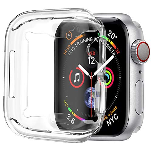 [1 Pack] ALADRS Screen Protector Case for Apple Watch 40mm, Full Protective HD Ultra-Thin Cover Compatible with iWatch Series 4 Series 5 Series 6 SE Bumper Case, Clear
