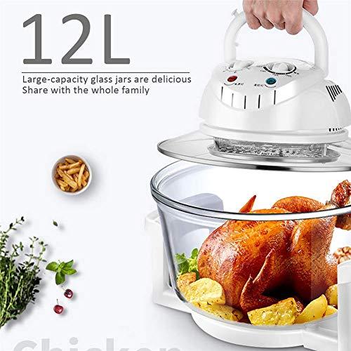 TRYSHA 1300W 12L Infrared Oven Roaster Air Fryer Turbo Elektrisch fornuis BBQ Bake Kok Met Recept 110V-220V olievrije friteuse (Color : Flesh)