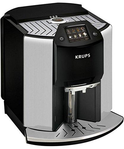 KRUPS EA907D Barista Steel, Kaffeevollautomat, 1.9 Liter Wassertank, 15 bar, Edelstahl-Kegelmahlwerk, Schwarz/Edelstahl