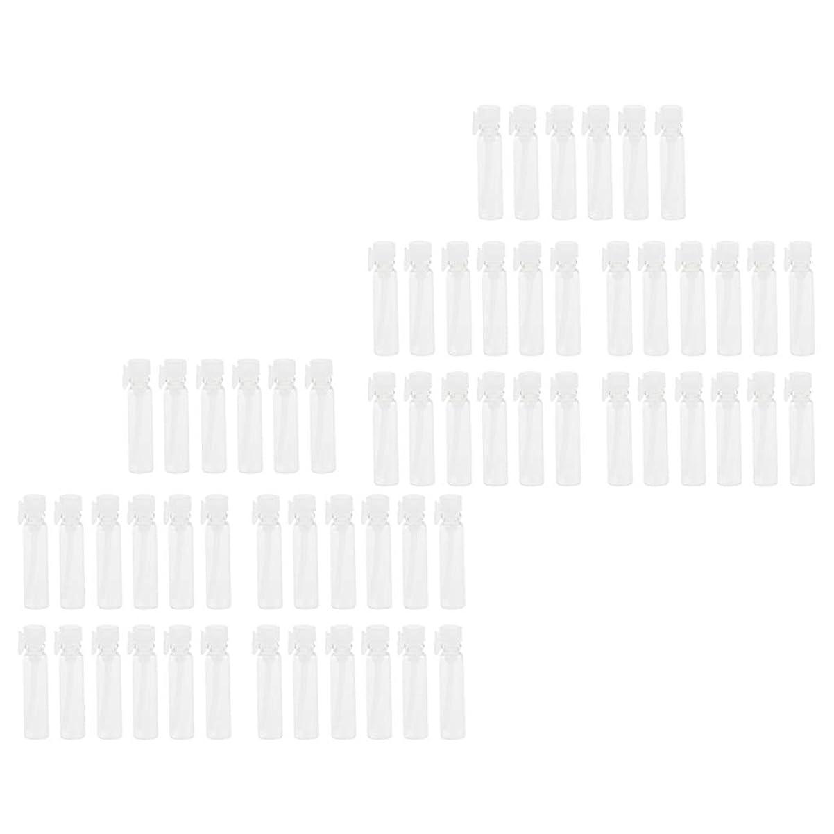 トランジスタキラウエア山不忠sharprepublic 香水ボトル 香水瓶 詰め替え容器 ガラス エッセンシャルオイル 旅行 携帯 透明 1ml 60個入