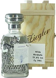 Rarität: Ziegler Wilde Mirabelle Jahrgang 1981 0,35l mit 53,8% vol. mit Holzkiste - Edelbrand aus Deutschland