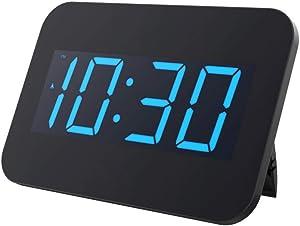 WYFDZBD Réveil LED Grand Écran Temps Réveil Snooze Horloge Moderne Bureau Chambre Bureau Table Horloge