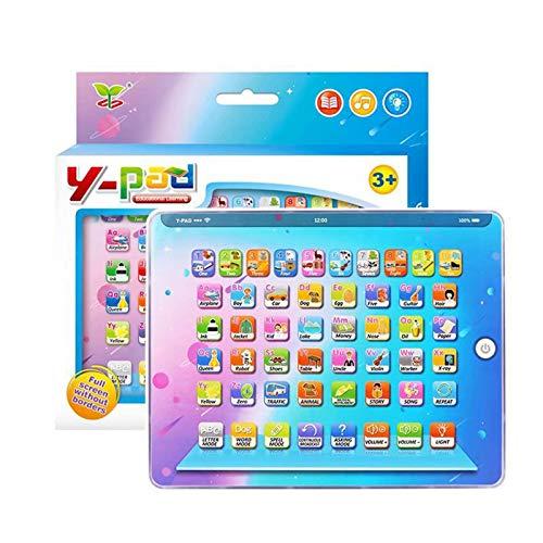 Shhjjyp Kids Learning Pad Bebé Educativo Juego Inteligente Tableta Música Infantil ABC Aprendizaje De Juguete para Letras Palabras Número De Ortografía