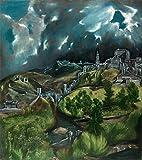 fabulous Plakat Poster EL Greco Blick auf Toledo Landschaft