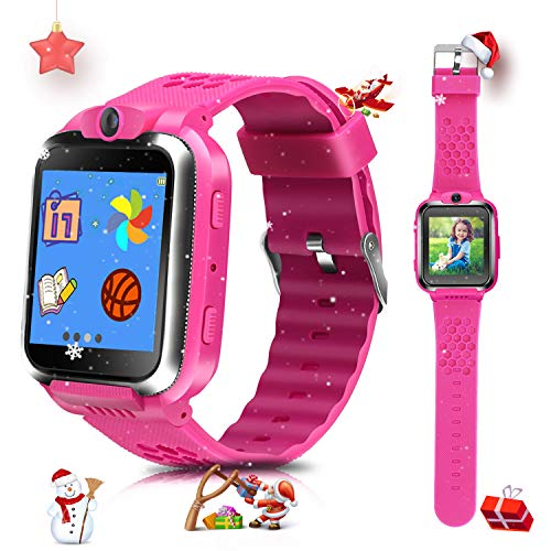 Smart Watches for Kids Digital Game Watches Toys Boys Girls Age 3-12 Learning Toys Smartwatches Touchscreen Puzzle Games Video Recording Camera Watches for Kids Birthday Gifts(Pink)