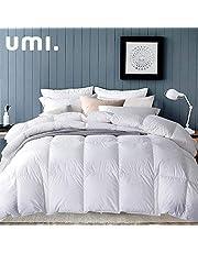 Amazon Brand-Umi Couette en Plume et Duvet pour l'hiver, avec Tissu 100 % Coton et Protection Anti-Perte de Duvet, Conforme à la Norme Oeko-TEX Standard