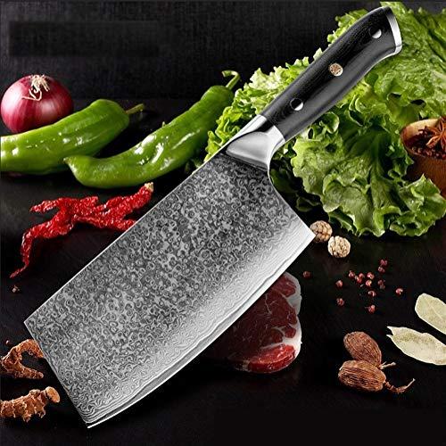 Chino 7 pulgadas cuchillo cocinero profesional carnicero cuchillo de 67 capas de acero del cuchillo de cocina de la manija G10 Cleaver Santoku cocina