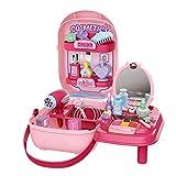 Runtodo Los niños pretenden maquillaje caso simulación salón de belleza conjunto accesorios maleta almacenamiento caja de papel cosméticos juguete