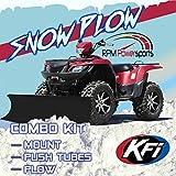 RPM New KFI 50' Flex Blade Snow Plow & Mount - 2007-2020 Yamaha 700 Grizzly 4x4 ATV