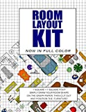 Room Layout Kit: Now In Full Color. The perfect furniture lay out planner - Plan your home interior designs using this scaled room layout template (Interior design tools)